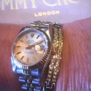 GOLD BRACELET THAT GOES PEFECT WITH MY ROLEX WATCH